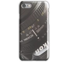Nikon 50mm iPhone Case/Skin