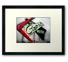 capri hotel, route 66 Framed Print