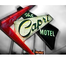 capri hotel, route 66 Photographic Print