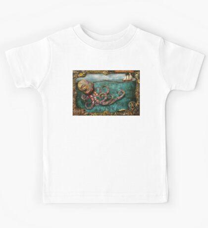 Steampunk - The tale of the Kraken Kids Tee