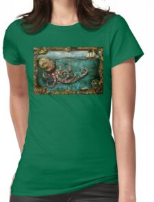 Steampunk - The tale of the Kraken Womens Fitted T-Shirt