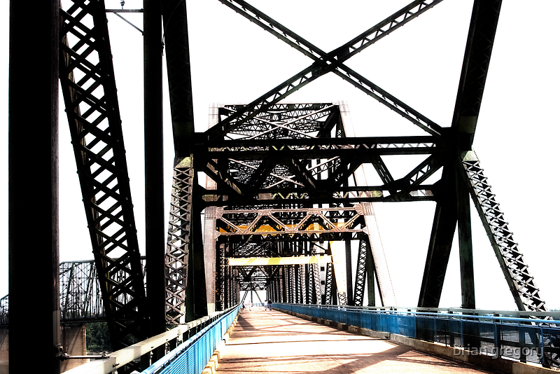 chain of rocks bridge, route 66 by brian gregory
