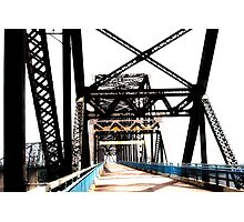 chain of rocks bridge, route 66 Photographic Print