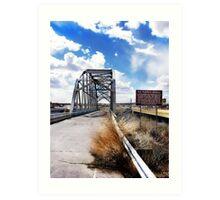 rio puerco bridge, route 66, new mexico Art Print