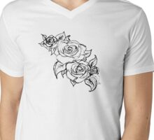 White Wedding Roses Mens V-Neck T-Shirt