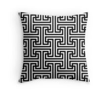 Geometric Swastika Pattern  Throw Pillow