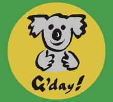 "Koala ""G'day!"" Kids Clothes"