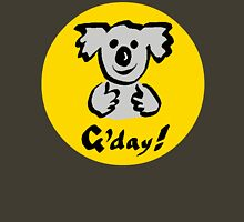 """Koala """"G'day!"""" Unisex T-Shirt"""