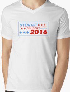 Stewart/Colbert 2016 Mens V-Neck T-Shirt