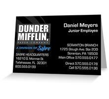 Sabre Business Card Greeting Card