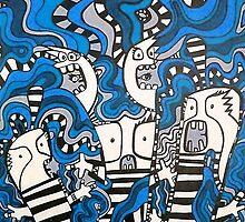 LOUDER IN THE BLUE WAVES by Art by Danka