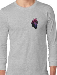 Bisexual Pride Heart (with Black detail) Long Sleeve T-Shirt