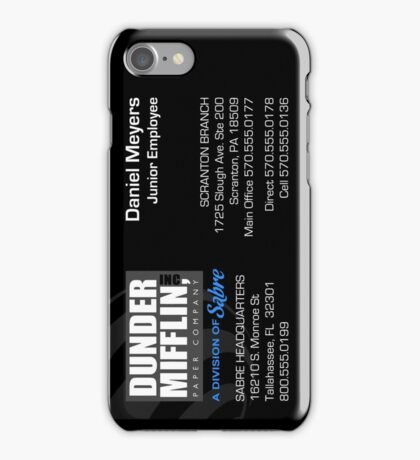 Sabre Business Card - Custom Vert iPhone Case/Skin