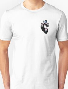 Transgender Pride Heart (with Black Detail) T-Shirt