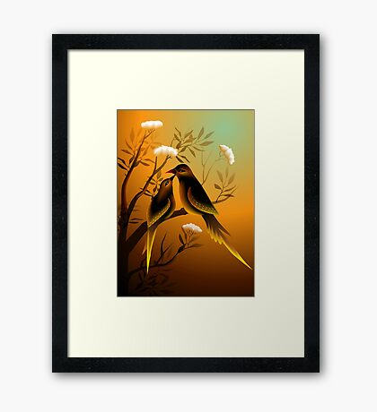 Love and affection of mother bird  Framed Print