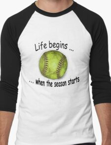 Life begins ... Men's Baseball ¾ T-Shirt