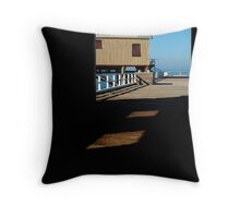 Boat Sheds Throw Pillow