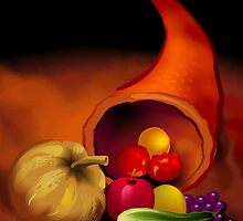 Scattering of fresh vegetables by tillydesign