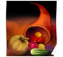 Scattering of fresh vegetables	 Poster