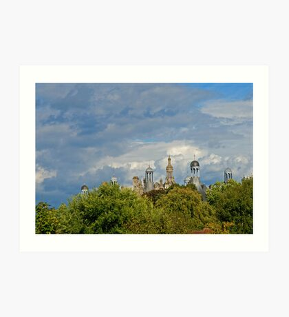 A castle in the middel of the forest Art Print