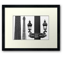 Paris - Three beauties. Framed Print