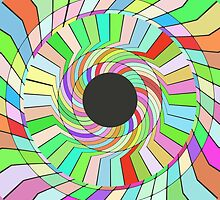 Colorful whirlpool abstract design by lalylaura