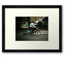 boris bike Framed Print