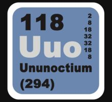 Periodic Table of Elements: No. 118 Ununoctium by walterericsy