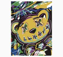 Abstract Art -- Stitched Bear with Bow Tie Kids Clothes