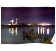 Callide power station at night Poster