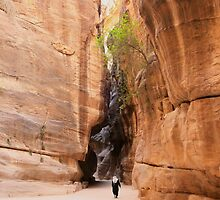 Siq to Petra, Jordan by Justine Chesterman