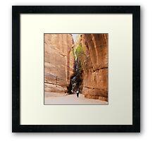 Siq to Petra, Jordan Framed Print