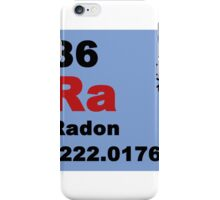 Periodic Table of Elements: No. 86 Radon iPhone Case/Skin