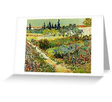 Van Gogh - Garden at Arles Greeting Card