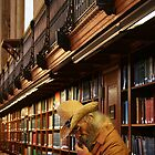 Urban Cowboy, New York Cowboy at New York Library by Jane McDougall