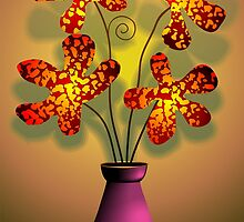 Ravishing beauty of the flowers in a vase	 by tillydesign