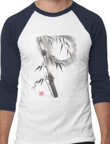 Moon blade bamboo sumi-e painting  Men's Baseball ¾ T-Shirt