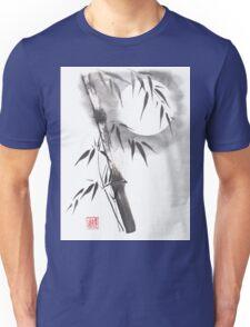 Moon blade bamboo sumi-e painting  Unisex T-Shirt