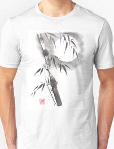 Moon blade bamboo sumi-e painting  T-Shirt
