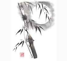 Moon blade bamboo sumi-e painting  Unisex T-Shirt