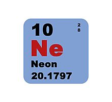 Periodic Table of Elements: No. 10 Neon Photographic Print
