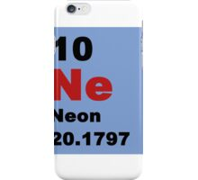 Periodic Table of Elements: No. 10 Neon iPhone Case/Skin