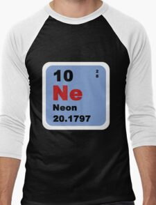Periodic Table of Elements: No. 10 Neon Men's Baseball ¾ T-Shirt