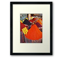Spicy Colours Framed Print