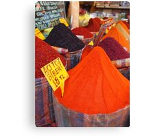 Spicy Colours Canvas Print