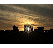 Stonehenge Sunset Photographic Print
