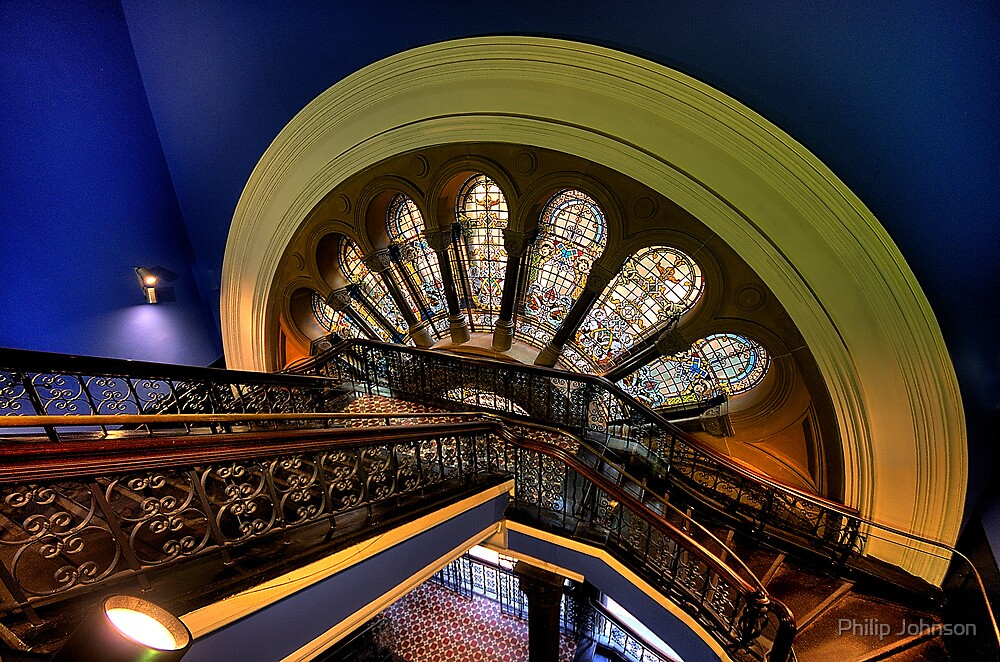 Staircase Addiction - Queen Victoria Building, Sydney - The HDR Experience by Philip Johnson