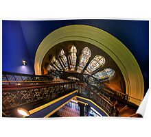 Staircase Addiction - Queen Victoria Building, Sydney - The HDR Experience Poster