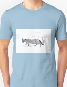 Blue-eyed menace sumi-e painting Unisex T-Shirt