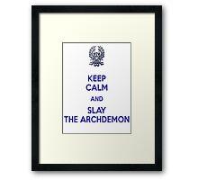 Keep Calm and Slay the Archdemon Framed Print